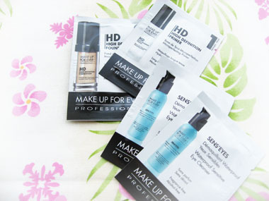 Today's beauty notes-アクアアイズ4本比較